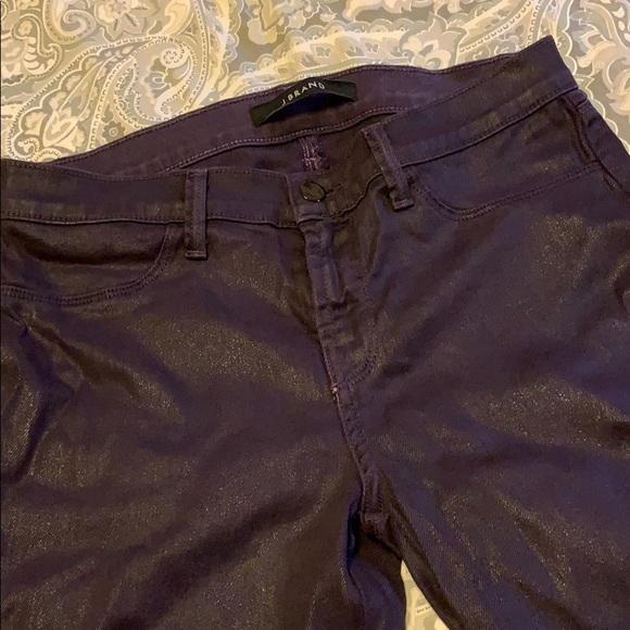 J Brand Denim - J Brand dark purple coated skinny jeans